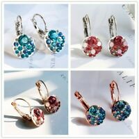 Elegant Drop Earrings for Women 925 Silver Jewelry Cubic Zircon A Pair/set