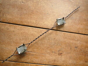 STUBBES GALVANIZED  LARGE NOTCHED CORNERS METAL PLATES  - ANTIQUE BARBED WIRE