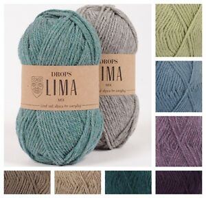 Drops Lima Double-knit DK Peruvian Highland & Superfine Alpaca Knitting Yarn