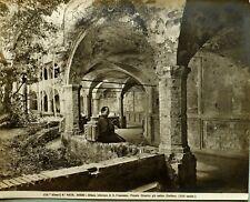 c1900 ALINARI ORIGINAL PHOTO GELATIN SILVER ASSISI No. 4824 FIRENZE