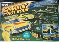 New Sealed Vintage Sealed In Box Tyco Sparkin Hot Rods Nite Glow Slot Car Set