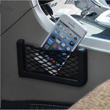 2PC Elastic Phone Holder Storage In Car Seat Side Back Net Bag Pocket Organizer