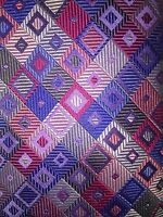 NWOT Holland & Sherry Purple Multicolor Geometric Jacquard Woven 100% silk tie