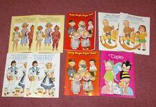 9 1970's- 1980's Paper Dolls Children Cupie Shirley temple Great Lot!