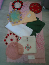 Retro tablecloth bundle some new doilies Vintage