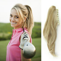 """Short  Thick Wavy Human Hair Claw/Jaw Clip in Remy Hair Ponytail Extension 8-14"""""""