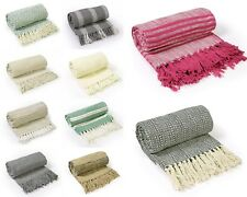 Hand Knitted Cotton Blanket 10 PC Lot Assorted Comfortable Living Rooms Bedrooms