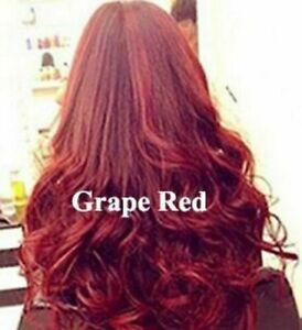 Hair Dye Colour Shampoo Natural Brown Dye Color Permanent Grape Red Wine Hair