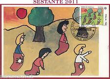 ITALIA MAXIMUM MAXI CARD ROMA 705 EUROPA CEPT '89 GIOCHI FANCIULLI 1989 B887