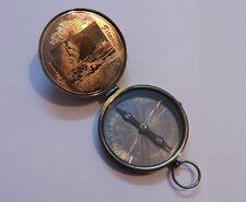 Antique Brass Pocket Titanic Compass 3 Inches Vintage Marine