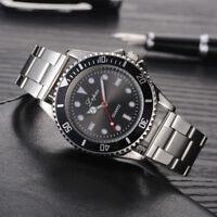 Luxury Men Stainless Steel Analog Quartz Wrist Watch Casual Sport Military Watch
