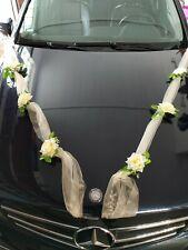 6 St Autoschmuck Blumen Blüten Girlanden Hochzeit Autodeko Kunstblume NEU LA50