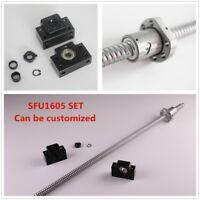 CNC Ball Screw SFU1605 L250mm-1550mm + RM1605 Ballnut + 1set BK/BF12 End Support