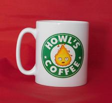 Howl's Moving Castle Anime Calcifer Starbucks inspirado Taza de Café 10oz