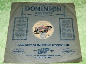 JAY WILBUR : Punch and Judy show / If I'm dreaming - 1930 UK Dominion 78rpm 19N