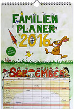 Familienplaner 2016 Familienkalender mit 6 Spalten NEU Familyplaner Wandkalender