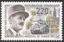 Francia 1987 la Segunda Guerra Mundial/militar/guerra/Ejército/Gen Leclerc/Tanque/Soldados/edificios 1v n43294
