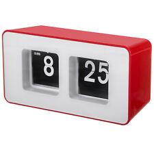 Auto Flip Desk Clock Red Case Retro Clock UK