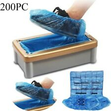 UK Waterproof Disposable Shoe Cover Plastic Cleaning Overshoes Boot Safety Blue