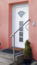 GE1 Edelstahl Geländerset für Eingang (Bodenmontage)  Treppengeländer Geländer