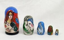 5 pcs. Russian Nesting Doll Hand Painted after Marc Chagall #3675