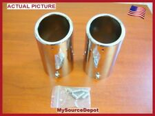 """EXHAUST TIPS,STAINLESS STEEL, 3"""" DIA / 5 1/4"""" TALL,FITS 2 1/4"""" TO 2 3/4"""" PIPES"""