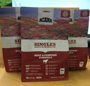 ACANA SINGLES limited ingridient diet, beef ,pampkin formula(set 3x12 oz)