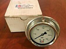 Stewarts Usa Liquid Pressure Gauge 0 300 Psi 22s 300 Fp New Old Stock