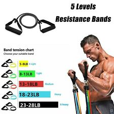 wholesale 5 Levels Resistance Bands Yoga Pull Rope Elastic Fitness Exercise