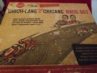 Gilbert American Flyer Auto Rama Which-Lane Chicane Race Set #19075