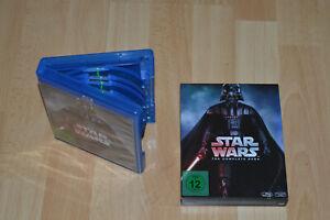 Star Wars - The Complete Saga I - IV (Blu-ray, 2016, 9 Discs)
