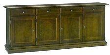 Base contro mobile 4 porte, cassetti,in arte povera, legno massello, credenza,