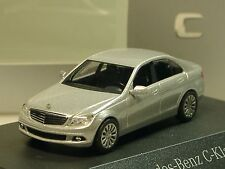 Busch Mercedes C-Klasse Limousine, silber, dealer model - PC 2377 - 1:87