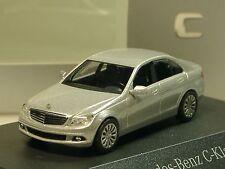 Busch Mercedes Classe C Berline, argent, Dealers Model-PC 2377 - 1:87