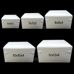 White Cake Boxes! Fold Flat | Pastry/Birthday/Dessert/Cupcake/Bakery/Wedding/Box