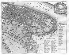 Antique maps, St Olave and St Mary Magdalens Bermondsey, Southwark