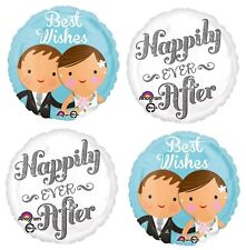 """4x 18"""" Happily ever after Wedding Party Foil Mylar Balloon Party Supplies"""