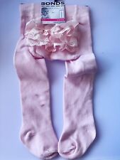 NEW Girls Kids Baby Bonds Pink Bottom Frilly lace Warm Tights Stockings 0-6month
