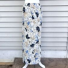 B. Moss Long Flower Print Skirt Size 4