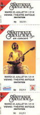 ticket billet unused stub place concert CARLOS SANTANA 1991 Vienne FRANCE