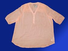 Damenbluse Bluse Tunika V-Ausschnitt Knopfleiste Gr. 52 2 XL orange 3/4 Arm NEU