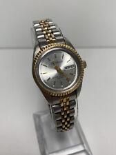 Women's Armitron President Style Dress Watch Calendar SS Band Gold Tone Classic