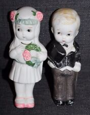 Vtg Bride & Groom Dolls Japan Bisque Figurines