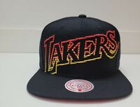 Men's Mitchell & Ness Black NBA Los Angeles Lakers Fast Track HWC Snapback