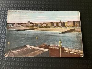 Vintage Postcard - Front From West Pier Looking West Brighton 1905 P70