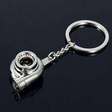 1pc Turbo Keychain Auto Car Chrome Keyring Turbocharger Boost Boosted Keychain