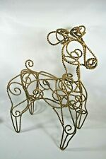 """18"""" Tall Gold Twisted Metal Reindeer Scroll Statue Sculpture Holiday Decor"""