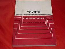 Toyota corona y Carina ii taller manual para chasis y carrocería 1983