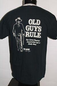 OLD GUYS RULE Mens Large L John Wayne T shirt Combine ship Discount