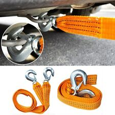 3M 3 Tons Nylon Car Tow Cable Towing Strap Rope with Hooks Emergency Heavy Duty